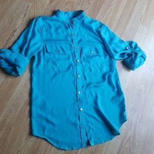 Ralph Lauren button down lightweight roll sleeve S